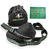 100% RISK FREE PURCHASE The only HAMMOCK STAPS that are completely covered for the life of the product, The Best Premium XL Heavy Duty Hammock Straps That Don't Stretch -- 10 FT long each x 1 IN wide (tree-friendly). -16 loops (32 combined). Rated...