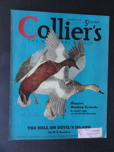 Collier's Magazine September 28,1940 (Cover Only) cover art by Lemuel Palmer/back of cover ad.for Calvert Whiskey ()