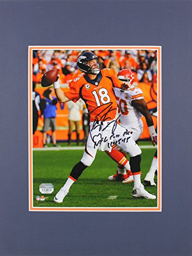 Peyton Manning 8x10 Matted Photo - Broncos Peyton Manning Authentic Signed 8x10 Matted Photo Fanatics COA #0984661