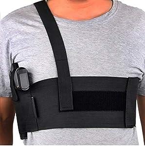 Believeee Deep Concealment Shoulder Holster Elastic Tactical Underarm Gun Holster for Men and Women