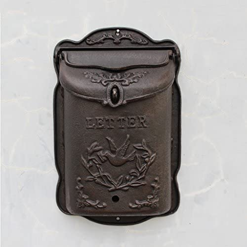 KTYX メールボックスレターボックスレトロ鋳鉄メールボックスポストボックス壁装飾壁掛け受信トレイヨーロッパ鋳鉄工芸品 メールボックス