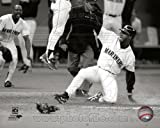 Ken Griffey Jr. Seattle Mariners Black & White MLB Action Photo 8x10