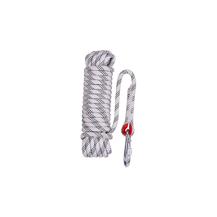 Aoneky 10 mm Static Outdoor Rock Climbing Rope, Fire Escape Safety Survival Rope