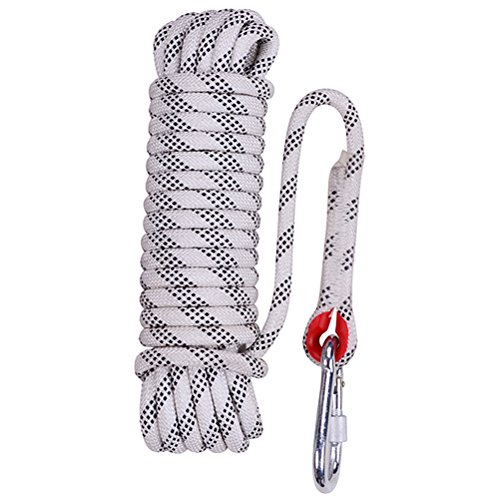 Aoneky Rock Climbing Rope, Outdoor Fire Escape Rescue Parachute Static Indoor Rope, Heavy Duty Rope, Diameter 10mm Safety Durable
