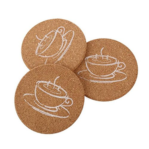 YingYing Home Coasters Cork Wooden Coasters Holder Pad heat-proof cup bar mug placemats coffee drink Coasters Cup Mat by YingYing Home
