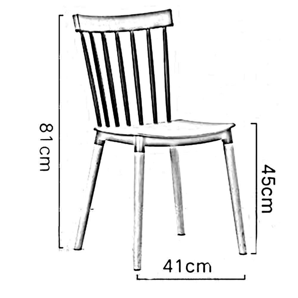 DBL Stabil slät halkfri träben multifunktion plastmontering mänsklig kropp design snygg stol lastkapacitet plast + boktbordsstolar (färg: vit) Orange
