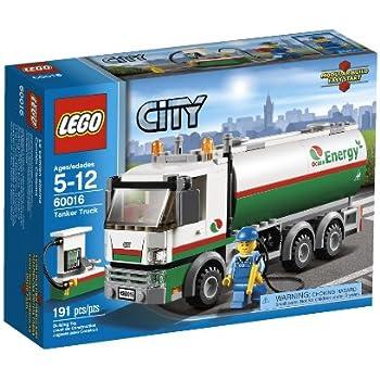Amazon.com: LEGO City Tanker Truck 60016: Toys & Games