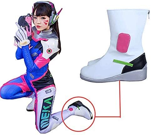 Game OW D.VA Cosplay Shoes Perfect model