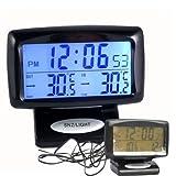 FidgetFidget Temperature Thermometer Monitor USA Digital car Auto Meter C/F Clock Calendar