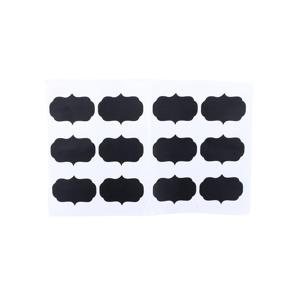 GLOGLOW 12pcs Chalkboard Labels Multipurpose Blackboard Chalk Board Stickers Reusable Craft Kitchen Jar Labels for Home Kitchen Office School
