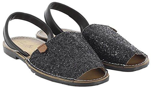 KOALA BAY WoMen Saviana Open Toe Sandals Black (Black 002)