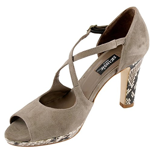 Taupe Sandals Fashion Women's Exclusif Paris c7zqAWI