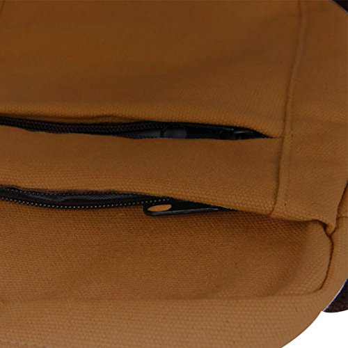 Pocciol Men Love Bags, Men's Fashion Design Canvas Shoulder Bag Crossbody Shoulder Bag Messenger Bag Work Bag (Brown) by Pocciol (Image #2)