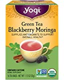 Yogi Tea, Blackberry Moringa Green Tea, 16 Count, Packaging May Vary
