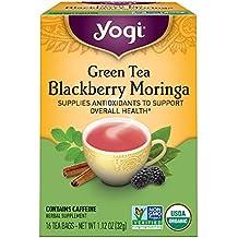 Yogi Tea, Blackberry Moringa Green Tea, 16 Count, Packaging May Vary