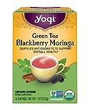 Cheap Yogi Tea, Blackberry Moringa Green Tea, 16 Count, Packaging May Vary