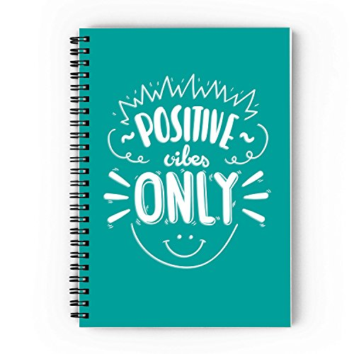 Positive Vibes Only Spiral Notebook - A5, 80 GSM, 160 Pages, Unruled, Soft Cover (300 GSM) (UNRULED) (B07B25251W) Amazon Price History, Amazon Price Tracker