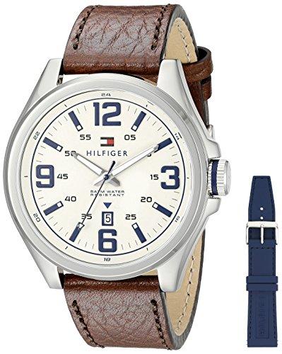 Tommy Hilfiger Men's 1791207 Casual Sport Analog Display Quartz Brown Watch