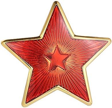 ユニセックス ソ連 Red Star ブローチ ラペルピン