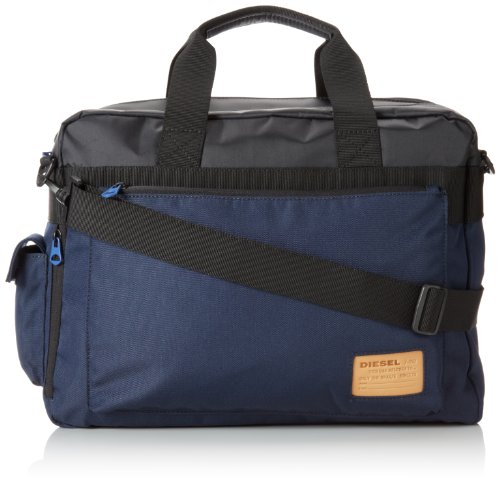 Diesel Hard Users Briefcase Messenger Bag Black/Blue Nights One Size