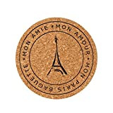ANBOO 6pcs Cup Mat Cork Tea Coffee Drink Coasters Placemats Soft Mood Tablemats (C)