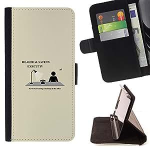 BullDog Case - FOR/Apple Iphone 5C / - / Health & Safety Executive - Funny /- Monedero de cuero de la PU Llevar cubierta de la caja con el ID Credit Card Slots Flip funda de cuer