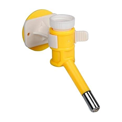 Dispensador de agua para mascotas Dog Cat / Suministros de comederos amarillos / Bebederos