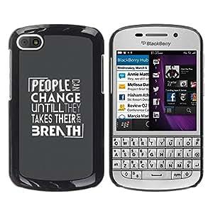 Be Good Phone Accessory // Dura Cáscara cubierta Protectora Caso Carcasa Funda de Protección para BlackBerry Q10 // People Change Message