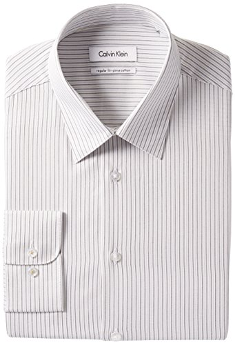 UPC 781910637332, Calvin Klein Men's Regular Fit Multi Stripe, Kiwi, 17.5 34/35