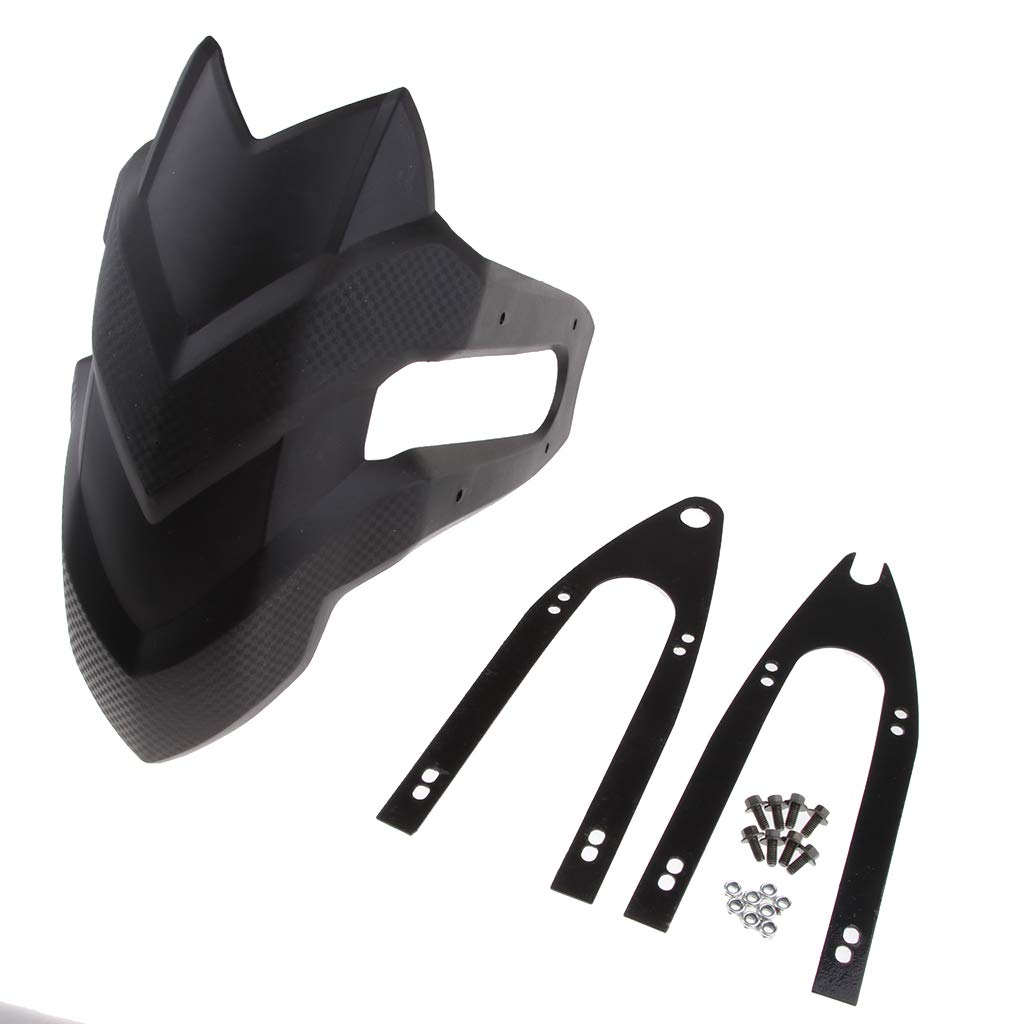 Shiwaki Garde-Boue De Garde-Boue Arri/ère Moto Splash Mud Guard pour Kawasaki Z250 #2 Universel