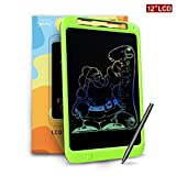Jonzoo® Colorful Writing Board, 12 Inch LCD Writing Tablet with Memory-Lock and Pen