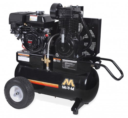 Mi-T-M AM2-PH09-20M Portable Air Compressor, 20-Gallon, Two Stage with Gasoline