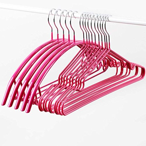 Clothes Rack Household Dip Hanger Metal Non-slip Clothes Rack No Trace Stainless Steel Hook Up Drying Pants Rack Hanging Adult Clothes (Color : Pink) by Drying Racks
