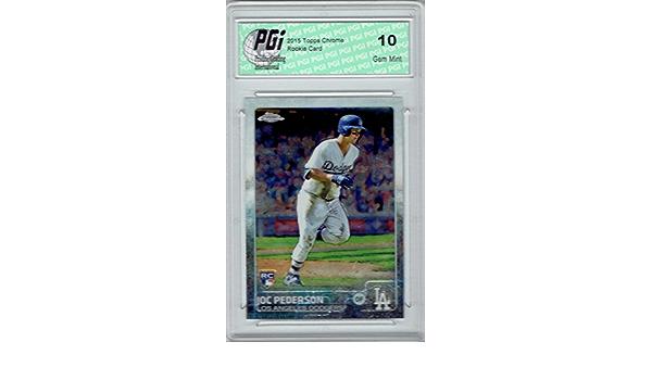 Joc Pederson 2015 Topps Chrome Rookie Card #129 PGI 10 Dodgers