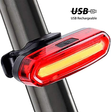 USB Rechargeable LED Bicycle Safety Warning Lamp Bike MTB Front Rear Tail Light