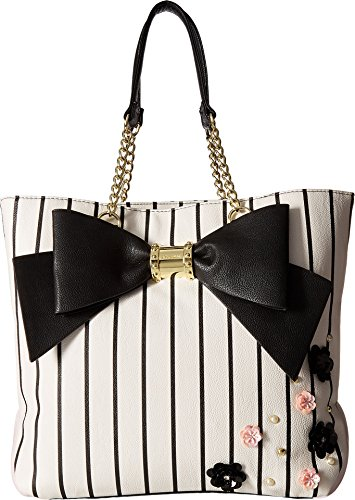 Betsey Johnson Women's North/South Tote Stripe Wallets