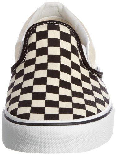 White Zapatillas tela And White Black VEYEBWW Blanco unisex clásicas Classic Slip de On Vans Checker wAfH6qf