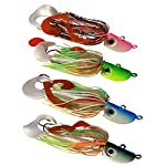 Fishing Lures 4 New Bearded Buzzbaits Bucktail Jigs