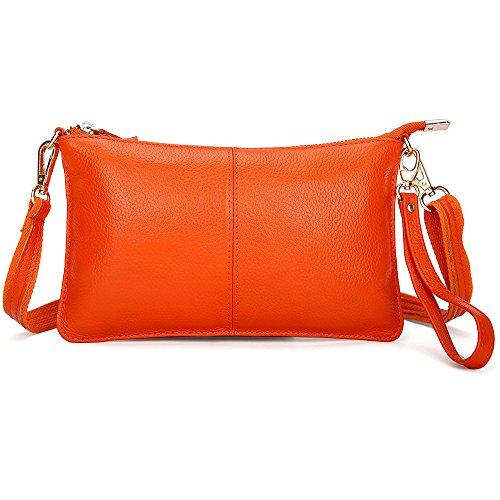 de orange petites crossbody cuir sac sac la les embrayage à wristlet sac pour les sac mode du coup main femmes portefeuilles à l'épaule gT5Wq7Bd7w