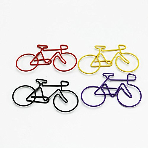 shoppingmoon Bike Papier Clips Colorful Fahrrad Metall Karte Datei Clips Pack 50