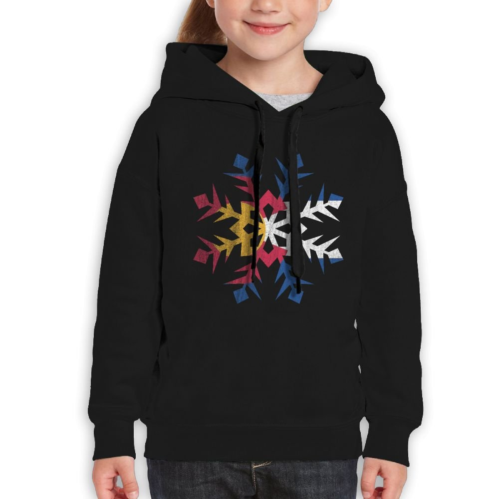 YUTaf Snowflake Colorado Native Girls Boys Teens Cotton Long Sleeve Cute Sweatshirt Hoodie Unisex