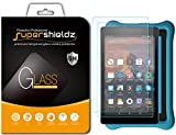 [2-Pack] Supershieldz for All-New Fire HD 8 / Fire HD 8 Kids Edition Tablet (2018/2017 Release) Tempered Glass Screen Protector, Anti-Scratch, Bubble Free, Lifetime Replacement