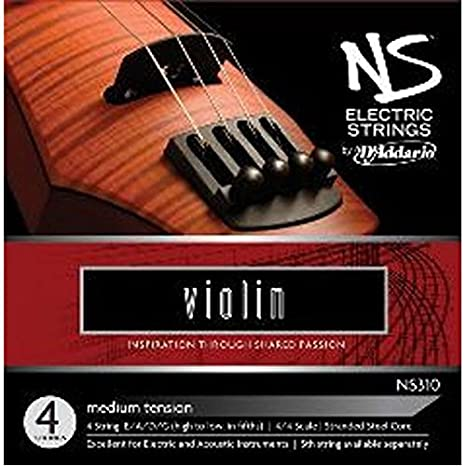 D'Addario NS Electric Violin String Set, 4/4 Scale, Medium Tension D' Addario NS310