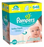 Pampers Soft & Strong Baby Wipes Baby Fresh Scent 648 Count -2 Pack