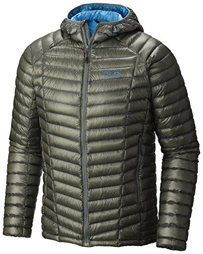 Mountain Hardwear Men's Ghost Whisperer Hooded Down Jacket Thunderhead Grey Outerwear SM