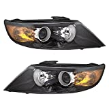 Halogen Headlights Headlamps Driver and Passenger Replacements for 11-13 Kia Sorento SUV 92101-1U200 92102-1U200
