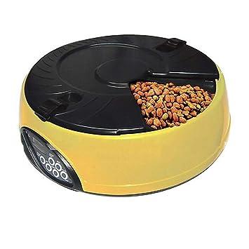 Comedero Automático para Mascotas, Cuenco De Alimentos para Animales Programable para Gatos Y Dispensador Automático