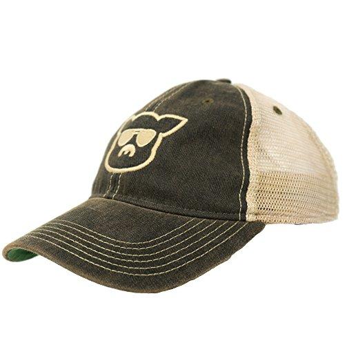 Islanders Pig Face Trucker Hat, Black w/Back Logo, One Size ()