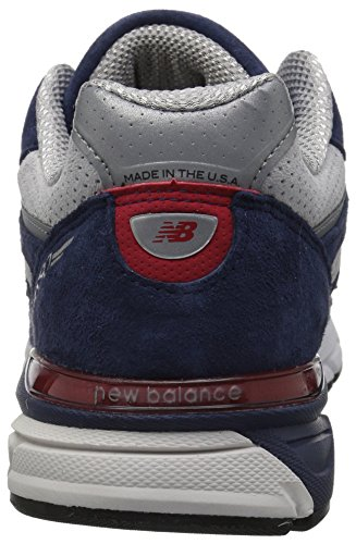 New Balance Men's 990v4 Running Shoe, Blue/Pigment Red, 7 D US by New Balance (Image #2)