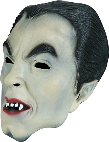 (Adult Vinyl Dracula Costume Mask )